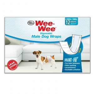 Wee-Wee Disposable Male Dog Wraps, XS/SMALL 12 Pack