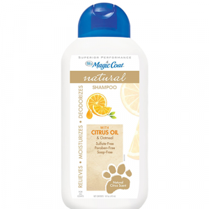 Shampoo Natural Four Paws Magic Coat Citrus Oil y Avena Naranja Marron para Perros