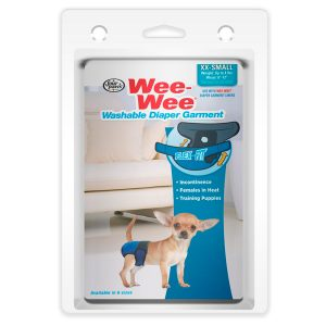 WASHABLE DIAPER GARMENT XX-SMALL – WEE-WEE – FOUR PAWS