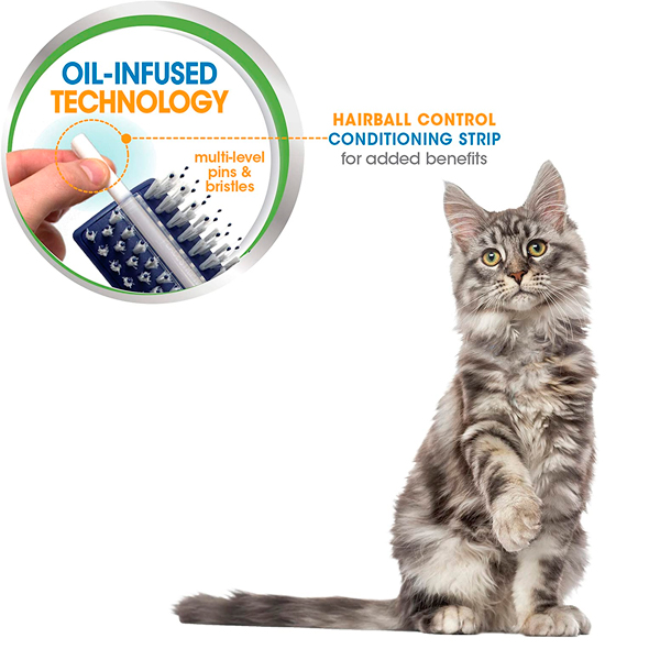 CONDITIONING BRUSH WITH HAIRBALL CONTROLSTRIP CAT - 3