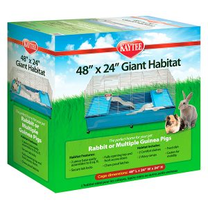 KAYTEE GIANT HABITAT WITH CASTERS 48X24