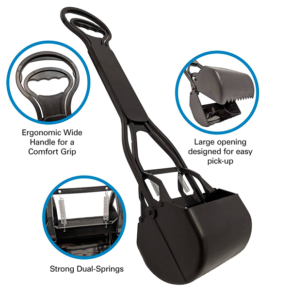 SPRING ACTION SCOOPER FOR GRASS -2