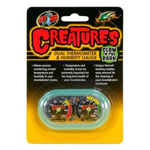 ZOO MED CREATURES DUAL THERMOMETER AND HUMIDITY GAUGE