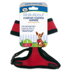 COMFORT CONTROL HARNESS RED SMALL – FOUR PAWS